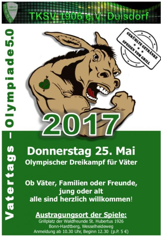 25. Mai 2017 Vatertags-Olympiade 5.0